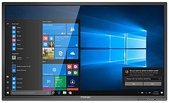 """ASBIS - Ultra high definition MultiBoard 98"""" with touch screen and Windows 10 Pro PC."""