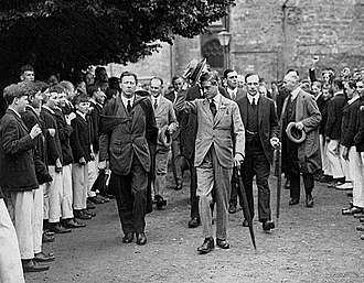 Sherborne School - Edward, Prince of Wales, later King Edward VIII, visiting Sherborne School on 19 July 1923.