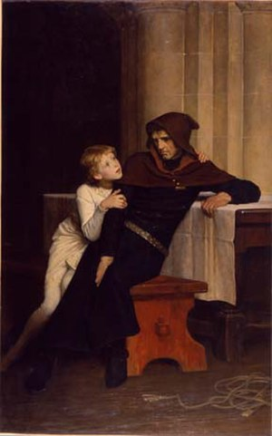 Arthur I, Duke of Brittany - Prince Arthur and Hubert de Burgh by William Frederick Yeames, 1882. Manchester Art Gallery.