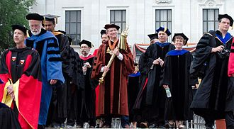 Professor (highest academic rank) - A group of professors in academic dress