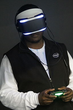 demo of Sony playstation VR headset