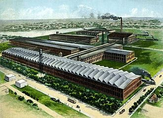 Cone Mills Corporation - One of the first company cotton mill plants, ca. 1900