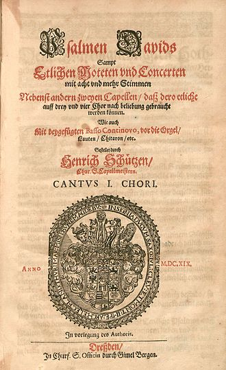 Psalmen Davids - Title page of the first edition, 1619