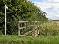 Public footpath, viewed from Common Road - geograph.org.uk - 1428296.jpg