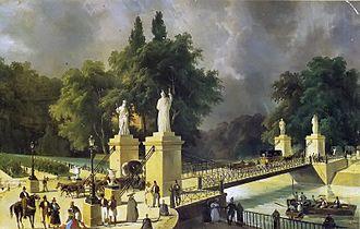 Puente Colgado (Aranjuez) - Puente Colgado of Aranjuez in 1834 by Pharamond Blanchard
