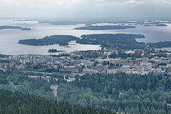 Kuopio viewed from Puijo Tower