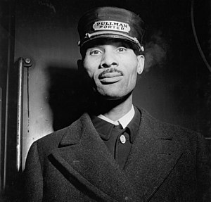 Brotherhood of Sleeping Car Porters - A Pullman Porter, photographed in Chicago in 1943.