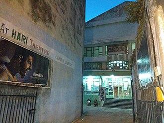 Punjabi cinema -  Punjabi movie being shown at Hari theater Raghunath temple market Jammu, India