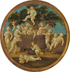 Putti with a Wine Press