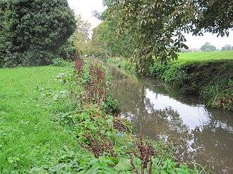 Pymmes Brook - Pymme's Brook in Oak Hill Park, East Barnet