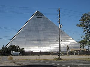 Memphis Pyramid - The vacant Pyramid pictured in 2010.