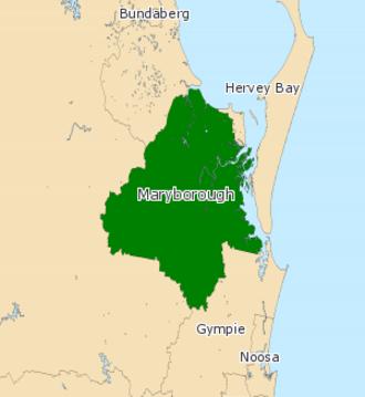 Electoral district of Maryborough - Electoral map of Maryborough 2008