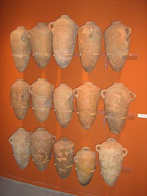 Eretz Israel Museum - Amphorae discovered at Tel Quasile