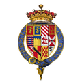 Quartered arms of Sir Gilbert Talbot, 7th Earl of Shrewsbury, KG.png