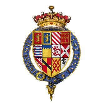 Gilbert Talbot, 7th Earl of Shrewsbury - Quartered arms of Sir Gilbert Talbot, 7th Earl of Shrewsbury, KG