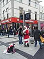 Queen Street Santa and Helper - geograph.org.uk - 1637137.jpg