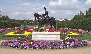 Golden Jubilee of Queen Elizabeth II - The equestrian statue of Elizabeth II in Regina, Saskatchewan,  created to commemorate Elizabeth's Golden Jubilee as Queen of Canada