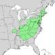 Quercus coccinea range map 1.png