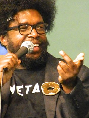 The Roots - Questlove in discussion during book signing.