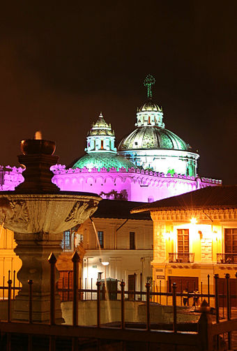The Church of El Sagrario in the historic center Quito Centro Historico.JPG