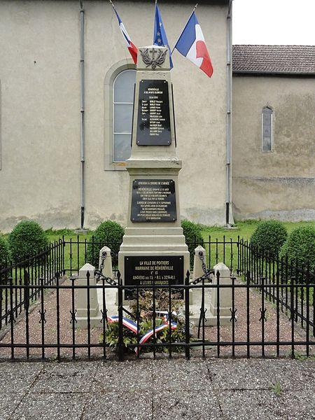 Réméréville (M-et-M) monument aux morts