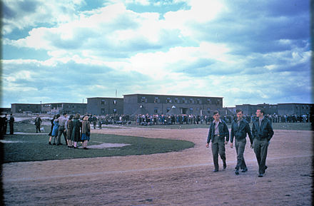 Personnel of the 91st Bomb Group at a Parade at Bassingbourn to celebrate their second year in the European Theatre of Operations, 17 September 1944. - RAF Bassingbourn