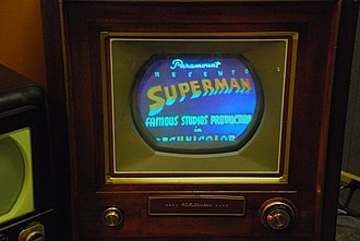 Color television - CT-100 at the SPARK Museum of Electrical Invention playing Superman.