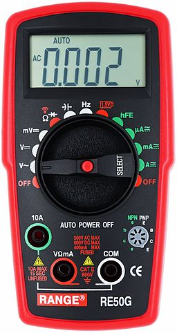 RE50G Range Digital Mutilmeter, professional Mutilmeter