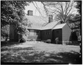 REAR VIEW WITH LEAN-TO AND ELL - Noah Webster House, 227 South Main Street, West Hartford, Hartford County, CT HABS CONN,2-HARFW,1-2.tif
