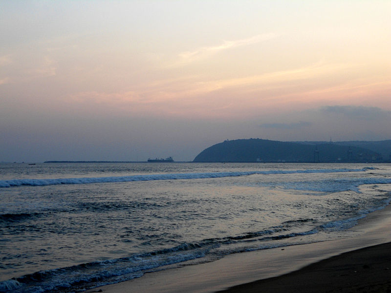 800px RK Beach at Sunset time 02 - How Much Do You Know about Visakhapatnam  Visakhapatnam Diaries