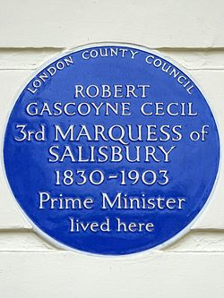 Robert gascoyne cecil 3rd marquess of salisbury 1830 1903 prime minister lived here