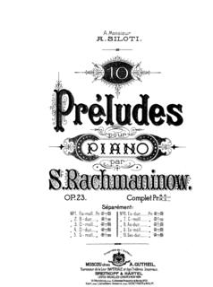 Preludes, Op. 23 (Rachmaninoff) prelude