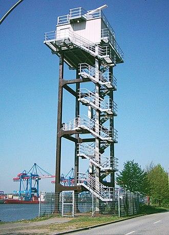 Radar tower - Image: Radarturm Süderelbe Altenwerder 06