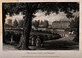 Radcliffe Infirmary, Oxford; figures strolling along the foo Wellcome V0014193.jpg