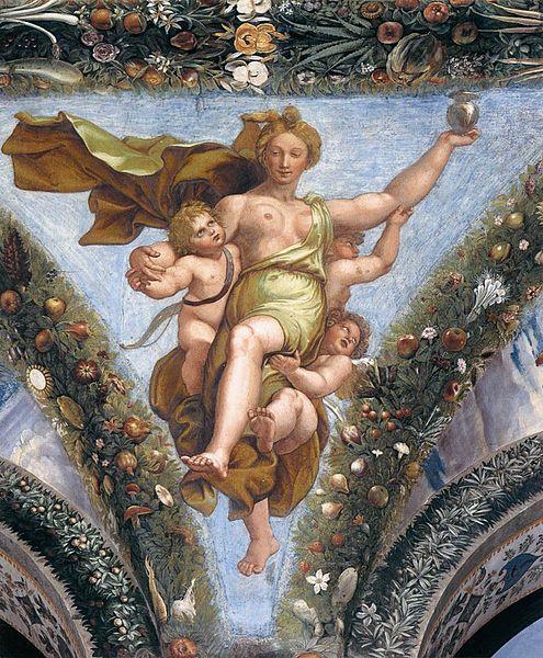 File:Raffael, Loggia di Psiche, Villa Farnesina, Rome 07.jpg