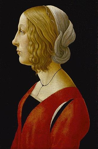 Raffaellino del Garbo - Image: Raffaellino del Garbo Bust of a Young Woman Google Art Project