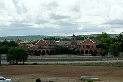 The Historic Train Station as seen from I-25