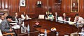 Rajnath Singh chairing a meeting of the Committee of Ministers on the Seeds Bill, in New Delhi. The Union Minister for Finance, Corporate Affairs and Information & Broadcasting, Shri Arun Jaitley.jpg