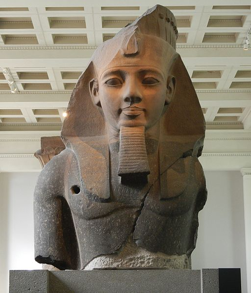 Ramses ii statue-london-england-british-museum