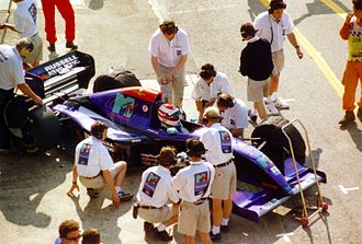 Simtek - Roland Ratzenberger's Simtek at the 1994 San Marino Grand Prix, prior to his fatal accident.