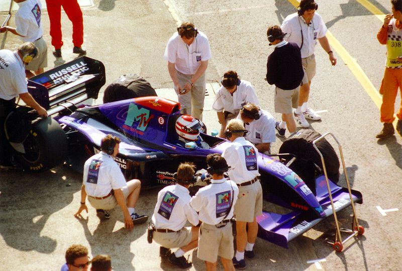 Roland Ratzenberger podczas Grand Prix San Marino 1994