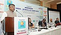 Ravi Shankar Prasad addressing at the launch of the Indo-Africa ICT Expo 2015 (scheduled on 28-29th September 2015, at Nairobi Kenya), in New Delhi. The Cabinet Secretary, Ministry of Information.jpg