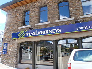 Real Journeys - Real Journeys office on Steamer Wharf in Queenstown