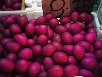 Pateros, Metro Manila - Image: Red salted eggs