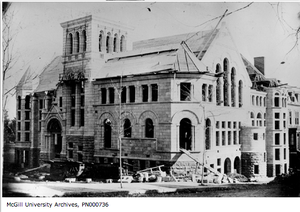 Redpath Hall - Redpath Library under construction - 1892