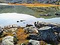 Reflection in water Lille Malene hike near Nuuk Greenland.jpg