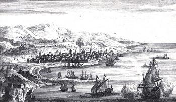 Reggio in un'incisione del Regno di Napoli.