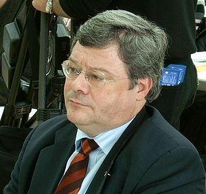 Reinhard Bütikofer auf einem Parteitag der Grü...