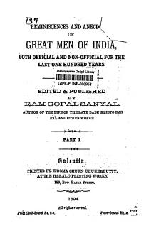 Reminiscences and Anecdotes of Great Men of India.djvu