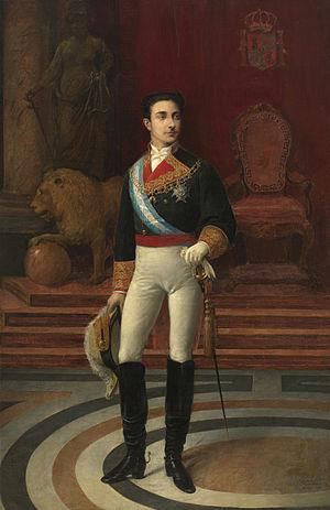 Salvador Martínez Cubells - Portrait of King Alfonso XII (1876)